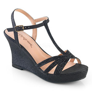 Shoes - Rhinestone Wedge High Heel Platform Sandal Shoes